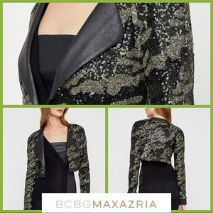 BCBGMaxazria Short Sequin Jacket